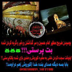 فقط زیارت امام حسین که خونشو داده برای بزرگترین حقیقت دنیا،مرده پرستیه؟