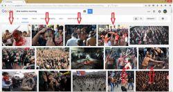 عزاداری شیعیان از دید گوگل. یکی هم داره از رو آتیش راه میره. الآن دیدم.
