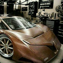 زیبا ترین خودروی چوبی که کارهم میکند