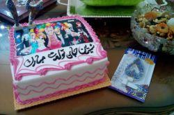 تولدم دوروژ پیش بود یعنی شب یلدا الان وقت شد بیام این کیک تولدم بودش خوشگله-__-