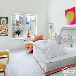 طراحی دکوراسیون منزل با تم رنگ صورتی .