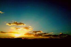 غروب زیبای دهمین روز از دهمین ماه سال 94 مشهد ، 10 کیلومتری جاده میامی