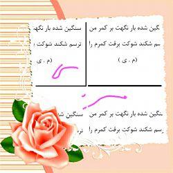 بیتی از دفتر دوم غزلم هدیه به علاقمندان به شعر پارسی