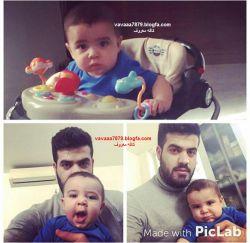 آرسام محمودی با عمو پیامش