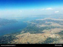 لحظاتی قبل از فرود در فرودگاه اسپارتا ترکیه