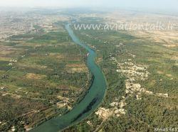 رود فرات لحظاتی پس از بلند شدن از فرودگاه نجف اشرف عراق