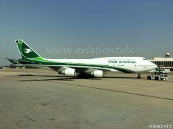 فرودگاه بغداد کشور عراق B747-400 با ریجستر YI-ASA هواپیمایی Iraqi Airways در حال Pull Forward