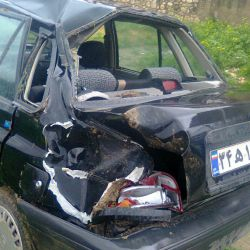 عکس ازتصادف برادرم