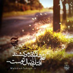 روزها کم کم قد می کشند آنقدر بلند می شوند تا به تو برسند  آفتاب دنبال توست ..... آقا جان بیا آجرک الله یا بقیه الله