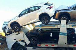 محموله لکسوس NX درشیراز دچار سانحه شد اگر قصد خرید NXدارید خیلی مراقب باشید تا بعد معامله خودرو متوجه نشید که یکی از ماشینهای توی عکس بوده