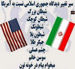 سیر تغییر دیدگاه ایران نسلت به امریکا