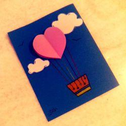 کارت هدیه دست ساز-طرح بالن #کارت-هدیه-دست-ساز