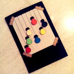 کارت هدیه دست ساز-طرح چراغانی #کارت-هدیه-دست-ساز