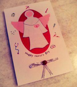 کارت هدیه دست ساز-طرح روز پرستار #کارت-هدیه-دست-ساز