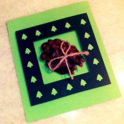 کارت هدیه دست ساز-طرح کاج #کارت-هدیه-دست-ساز