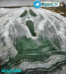 دریاچه ای تو روسیه که پس از یخ زدن باین شکل شده