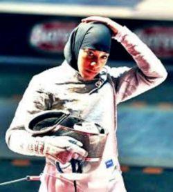 #ابتهاج محمد، اولین زن مسلمان از آمریکا که موفق به کسب سهمیه المپیک در رشته شمشیربازی شد.