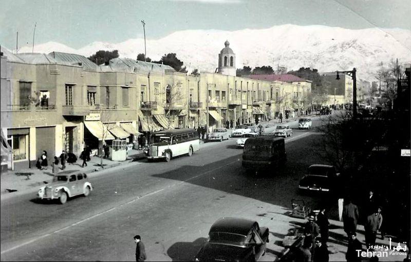 خیابان سعدی شمالی - سال ۱۳۳۶