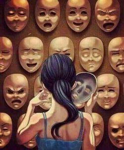 دنیای ما دنیای روابط آدمها با آدمها نیست دنیای روابط  نقابها با نقاب هاست آدمها كمتر فرصت میكنند  تا سیمای حقیقی هم را ببینند...