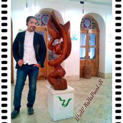 #عکاسی .............. #گنجینه فرهنگ و هنر #حجم_چوب اثر استاد جلیل #گلویی_زاده #نمایشگاه سه دهه #هنرهای_تجسّمی یزد #شب_افتتاحیه ...... اوّل بهمن ماه ۱۳۹۴