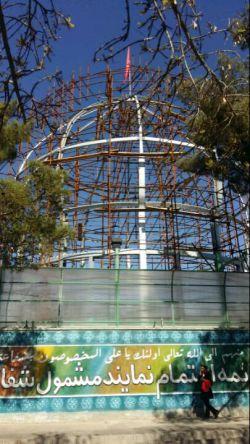 کارگاه ساخت گنبد منور امام حسین علیه السلام