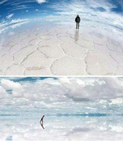 یکی از بزرکترین ایینه طبیعی در بولیوی