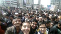 حضور در راهپیمایی یوم الله ۲۲ بهمن با دوستان.  همه امدند بخاطر اسلام و امام خامنه ای و لا غیر...