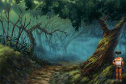 آموزش طراحی جنگل به روش نقاشی دیجیتالی در فتوشاپ www.bengiso.com