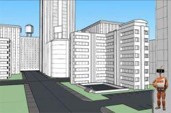 آموزش ایجاد یک محیط شهری با استفاده از رنگ آمیزی سه بعدی در Sketchup وPhotoshop www.bengiso.com