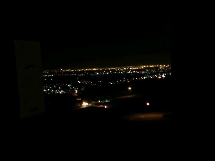 تهران در شب .از بالای کوهای بی بی شهر بانو در شهر ری