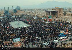 اینم ازجمعیت بالاترازازتصوردرمیدان امام اصفهان درراهپیمایی22بهمن است که همچون مشتی محکم برصورت امریکاواسرائیل است