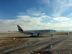 ایرباس A330 هواپیمایی امارات  فرودگاه امام خمینی تهران
