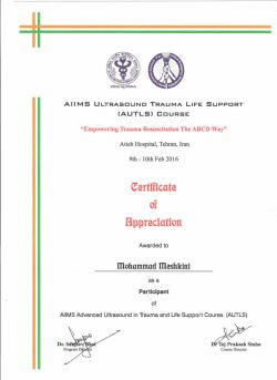 AIIMS UltraSonography Empowerment for Trauma Life Support (AUTLS)
