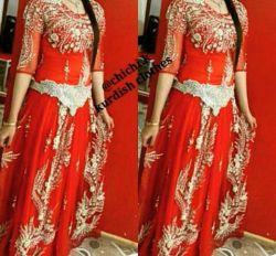 لباس عروس قرمز کردی