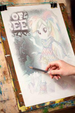 نقاشی رینبودش در اکوستریا گرلز 4
