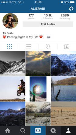instagram   alierabi     دوستان عزیزی كه اینستاگرام دارند خوشحال میشم  از صفحه من دیدن كنید ❤️