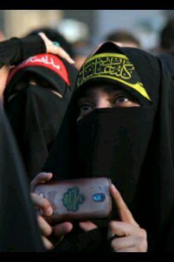 دختر حزب الهی ام...  روسری ام لبنانی  چادرم عربی  چه جبهه مقاومتی ساخته ام با ظاهرم ...  پ ن:جمله از خودم.