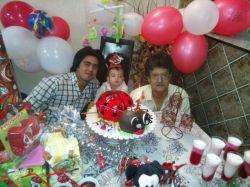 اینم منو پرهام کو چولو و پسرم فرشاد در جشن تولد یک سالگی نوه ی نازم