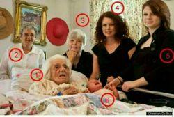 ۶نسل در یک تصویر.چقدر جالب انگیزه