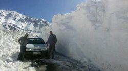 برف بیش از3متری سی سخت شهرستان دنا