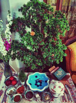 سلااام. با تاخیر عید همتون مبارک .. ان شالله امسال سال براورده شدن ارزوهاتون باشه . سالتون قشنگ /اینم سفره هفت سین مون :)