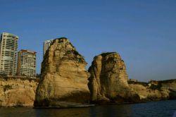 #صخره #روشه از نمای داخل دریا.