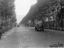 خیابان پهلوی (ولیعصر) را تابحال با سنگفرش دیده بودید- اوایل دهه 30