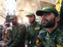 جمعی از مدافعین حرم درحریم رضوی