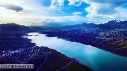 عکس هوایی از سد طالقان (استان البرز)