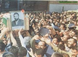 مراسم تشییع جنازه ی شهید عباس بابایی
