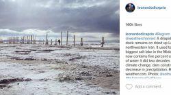 ابراز نگرانی دی کاپریو از وضعیت دریاچه ارومیه