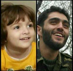 اینم دخترخانم شهید #مدافع_حرم محمودرضا بیضایی هست که مثل پدرش داره میخنده.. شادی روحش صلوات