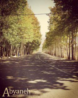 نمایی از جاده ابیانه 1394