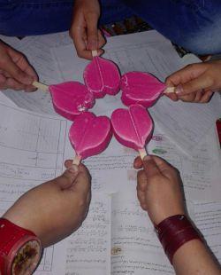 منو جمعی از دوستان موقع امتحان ریاضی...
